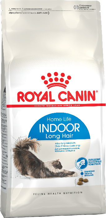 Royal Canin (Роял Канин) Indoor Long Hair - Корм для домашних длинношерстных кошек от 1 до 7 лет