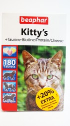 Beaphar Kitty's mix Taurine+Biotine/Protein/Cheese 180 табл