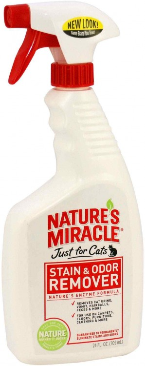 8в1 Natures miracle Stain and odor remover Just for cats Уничтожитель запахов и меток 709 мл