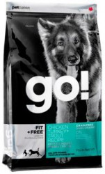 GO! FIT + FREE Grain Free All Life Stages Dog Recipe беззерновой д/собак 4 вида мяса: Индейка, Курица, Лосось, Утка 11,35кг.